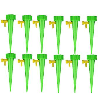 12pcs Plant Water Funnel Flower Drip Spikes Automatically Watering Tools