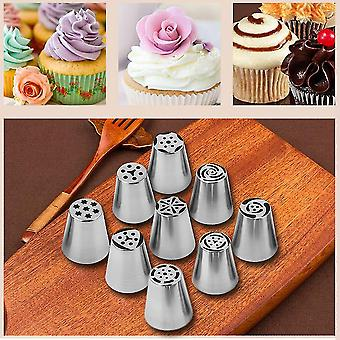 9 stuks cake keuken roestvrij staal piping nozzle piping Russische cake tool set