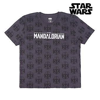Short Sleeve T-Shirt The Mandalorian Grey
