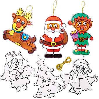 Weihnachtskugel Wackelaugen Fensterdeko (8 Stück) Basteln für Kinder zu Weihnachten