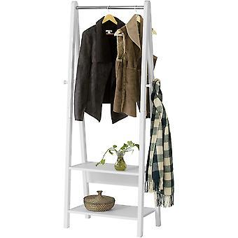 SoBuy Clothes Rail Stand Rack avec deux étagères de rangement, FRG59-W