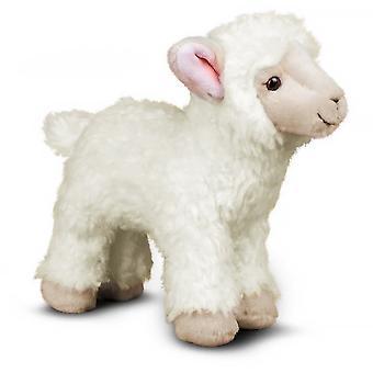 25 cm plys stående lam blødt legetøj