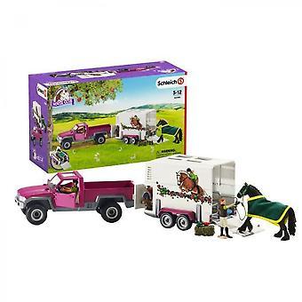 Schleich Figurine 42346 - Häst - Pickup Med Hästvagn