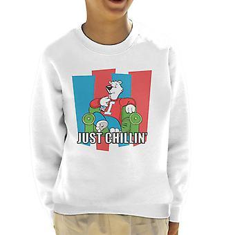 ICEE Polar Bear Just Chillin Kid's Sweatshirt
