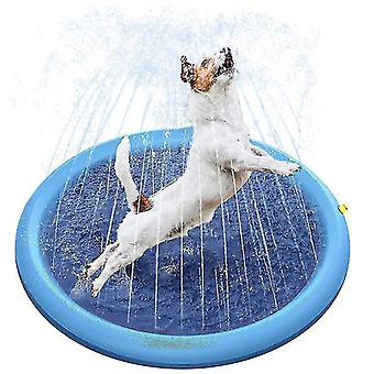 Play Cooling Pet Sprinkler Mat Swimming Pool Outdoor Inflatable Water Spray Pad(100cm)