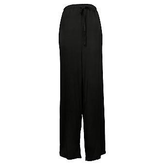 Rhonda Shear Damen Plus Pull-On Strickzug Lounge Hose Schwarz 764774