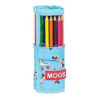 Case Moos Rollers Multicolour Light Blue (27 Pieces)
