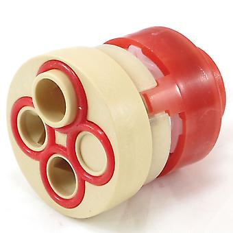 Vado HUB-001G-DIV omstelling Cartridge 148/2 ventiel - 4-weg omstelling - rode behuizing
