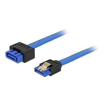 DeLOCK cable de extensión SATA, ho-ja, SATA 6 GB/s, 0, 5 m, azul