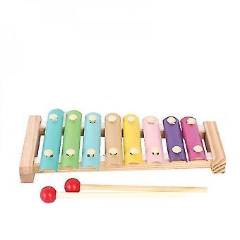 8-noot kleurrijke aluminium plaat percussie vroege educatieve muzikale speelgoed voor peuters baby (STIJL TWEE)