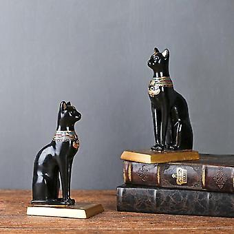 Egyptiläinen kissa retro nasta koristelu bookends vintage jalusta kirjoja korkealaatuinen säädettävä