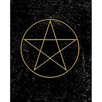 Grimoire: Pentagram Symbol Spell Book For Witches Mages Magick Practitioners And Beginners To Write Rituals And Ingredients - Black Yellow Design (8
