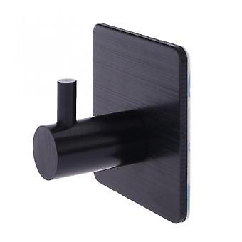 Stainless Steel Self Adhesive Wall Coat Rack Key Holder Rack Towel Hooks Clothes Rack Hanging Hooks Bathroom Accessories Black