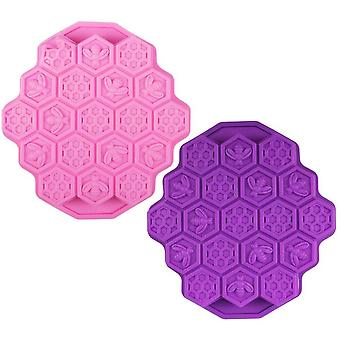 2 Honeycomb Silicone Cake Molds, Biscuit Making Molds