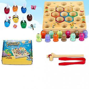 Drewniana gra wędkarska Toy