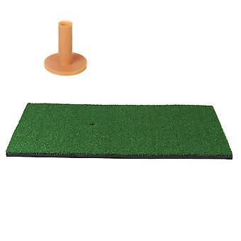 Backyard Golf Practice Mat Training Hitting Practice Tee Holder Grass Mat