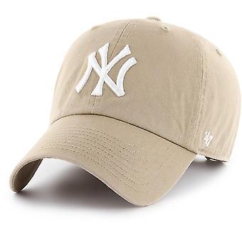 Einstellbare Kappe-Clean Up New York Yankees Khaki
