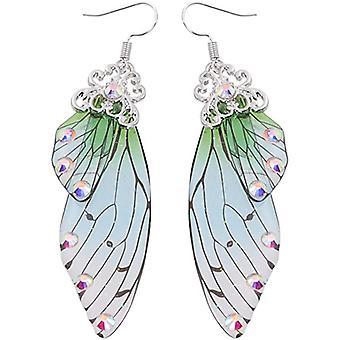 Butterfly Vinger Slipp Øredobber Eventyr Brudekvinner Tilbehør Gift-grønn