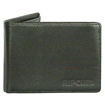 Rip Curl Leather Wallet with CC, note and Coin ~ Original black