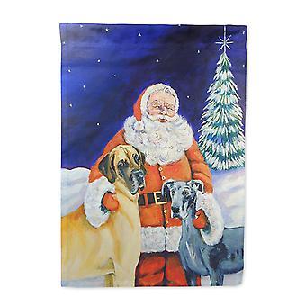 Carolines Treasures  7232-FLAG-PARENT Santa Claus with Great Dane Flag