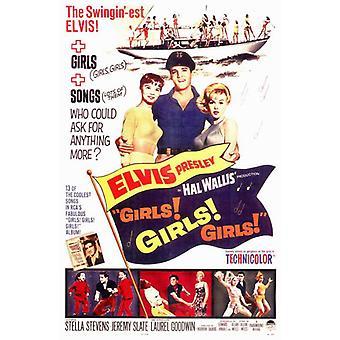 Girls Girls Girls Movie Poster (11 x 17)