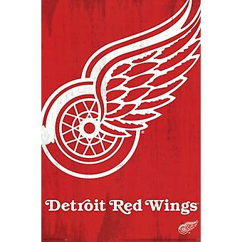 Detroit Red Wings - Logo 2013 Plakat Poster Print