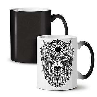 Wolf Scary Animal NEW Black Colour Changing Tea Coffee Ceramic Mug 11 oz | Wellcoda
