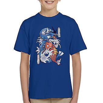 Pokemon Koi Magikarp och Gyarados Kid's T-Shirt