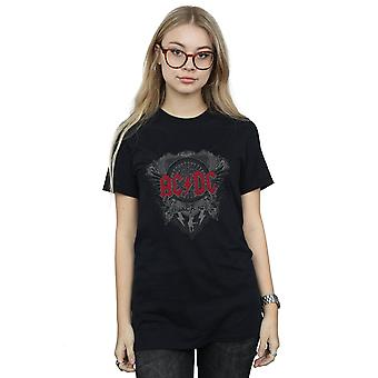 AC/DC Women's Black Ice With Red Boyfriend Fit T-Shirt