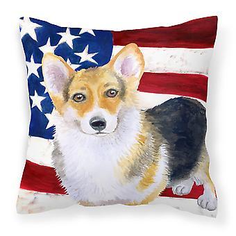 Pembroke Corgi Patriotic Fabric Decorative Pillow