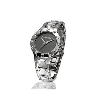 Crystal Watch adorned with white Swarovski crystal
