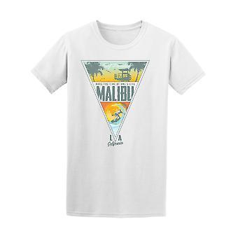 Malibu. T-Shirt surf Paradise Beach - Image de Shutterstock