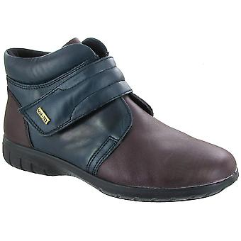 Cotswold Ladies Chalford Touch Fastening Leather Waterproof Boot Navy