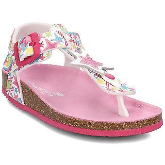Agatha Ruiz De La Prada 182984 182984ABLANCOYESTRELLAS universelle sommer børn sko
