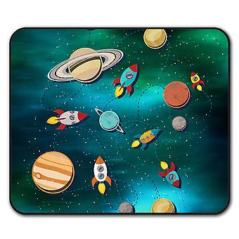 Space Exploration  Non-Slip Mouse Mat Pad 24cm x 20cm | Wellcoda