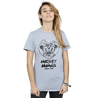 Disney Damen Mickey und Minnie Mouse seit 1928 Freund T-Shirt fit