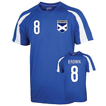 Scotland Sports Training Jersey (brown 8)