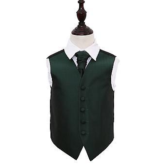 Dunkel grün griechischen wichtige Hochzeit Weste & Krawatte Set für jungen