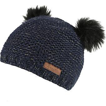 レガッタ女の子ヘディ ルクス帽子ポンポン ポンポン暖かいウォーキング ニット帽