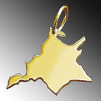 Trailers WEST PRUSSIA pendant in solid 585 gold map