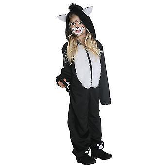 Gatto nero gatto costume bambini gatto costume tuta