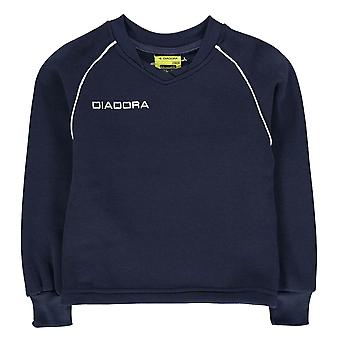 Diadora Kids Boys Madrid Sweater Junior Sports Top Jumper Pullover