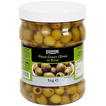 Country Range Pitted Green Olives in Brine