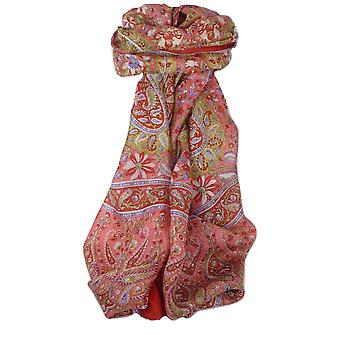 Klasyczny Paisley długi szalik Mulberry Silk Sehgal Scarlet przez Pashmina & Silk