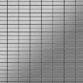 Mozaïek van massief metaal Edelstaal ALLOY Cabin-S-S-MB