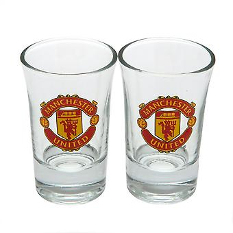 Manchester United FC Official Shot Glass Set (Pack Of 2)