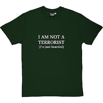 I Am Not A Terrorist (I'm Just Bearded) Racing Green Men's T-Shirt
