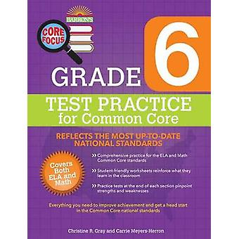 Grade 6 Test Practice for Common Core by Christine R Gray - Carrie Me