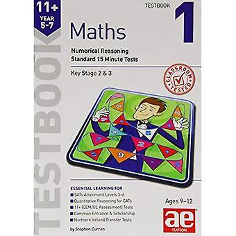 11 + Testbook rok 5-7 Matematyka 1: Testy standardowe 15 minut