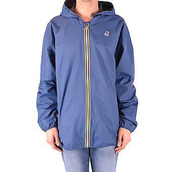 K-Way Augustine Spacer Macro Logo Mens Sweatshirt Blue Depht M